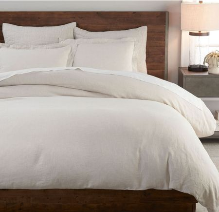 New linen flax bedding from potterybarn! Can't wait for it to arrive!  Duvet insert, pillows and cover linked   #LTKGifts #LTKhome #LTKfamily