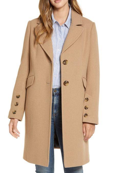 Wool blend coat | notched collar coat | camel coat | beige coat | fall coat | winter coat | neutral coat 🧥 #LTKstyletip #LTKcurves #LTKworkwear @liketoknow.it #liketkit http://liketk.it/2Xga8