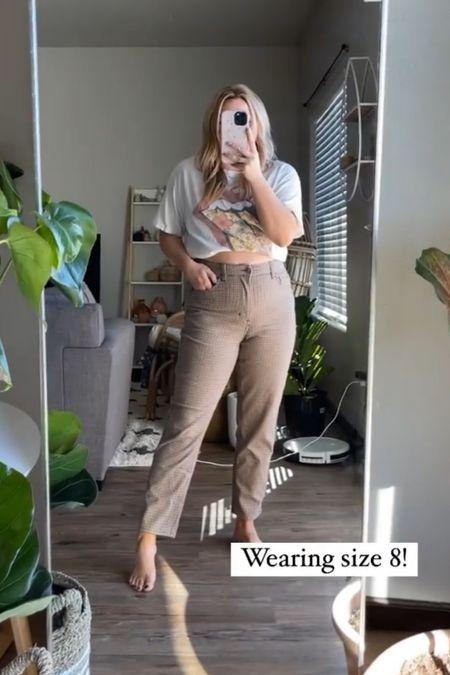 Plaid pants Straight leg cropped   #LTKunder100 #LTKSeasonal
