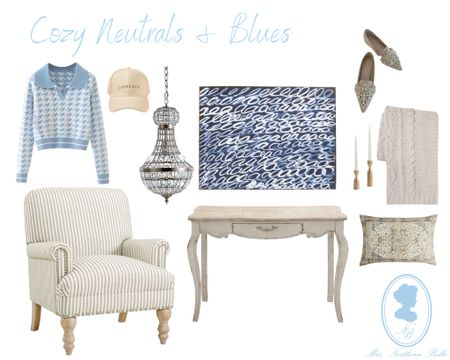 Blues & neutrals are my favorite! Linking some vintage style & modern pieces!   #LTKHoliday #LTKhome #LTKSeasonal