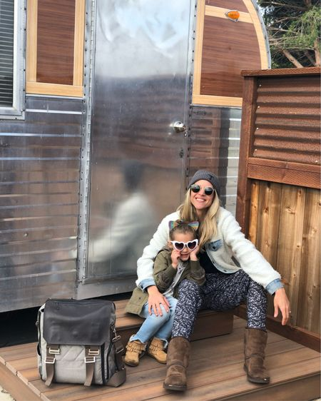 Camping essentials, took my first born on a girls trip. We are glamping it up in our airstream trailer. This place is like kids and adults heaven... tons of RV sites, cottages and airstreams. Swimming pools, playgrounds and fireside lounges are everywhere. @ajbuckley I think we may need a RV that fits 5 😁 #camplife #glamping  . .  http://liketk.it/2AUOk #liketkit @liketoknow.it
