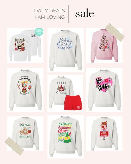 United Monograms early Christmas sale!   sweatshirts Christmas Holiday clothing  #LTKGiftGuide #LTKHoliday #LTKunder50