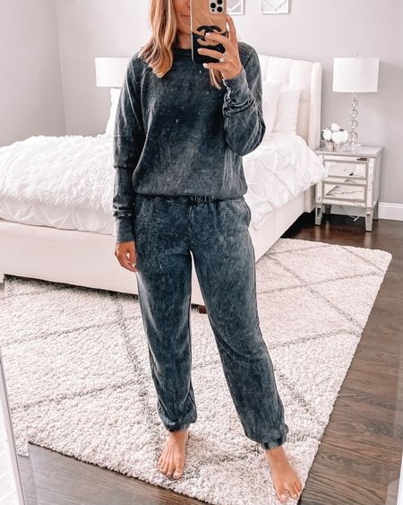 Super cozy lounge set. Wearing size small in top and bottom.  Follow my shop on the @shop.LTK app to shop this post and get my exclusive app-only content!  #LTKunder50 #LTKsalealert #LTKunder100