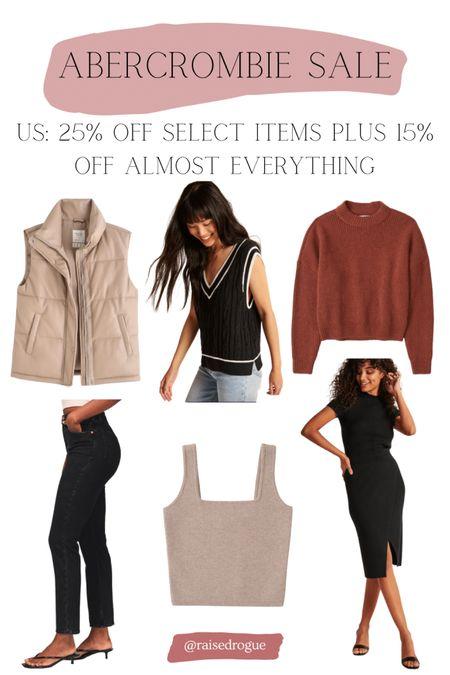 Shop fall outfits on sale!  Puffer vest   Shacket   sweaters   fall dress   Knits   Sweater Vest   straight leg jeans     #LTKunder100 #LTKunder50 #LTKsalealert
