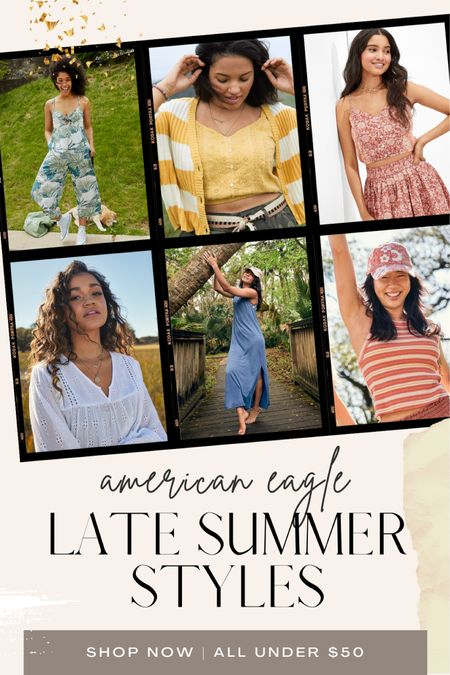 American Eagle, late summer, early fall, blouse, tank, affordable, matching set, maxi dress, coverup, sweater, transition styles, trend, jumpsuit   #LTKunder50 #LTKstyletip #LTKswim