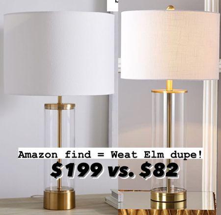 A beautiful West Elm table lamp lookalike!!   #LTKhome #LTKunder100 #LTKstyletip