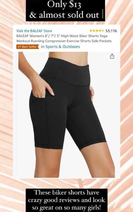 Biker shorts on sale for prime day! I wear size small only $13   #LTKstyletip #LTKcurves #LTKsalealert
