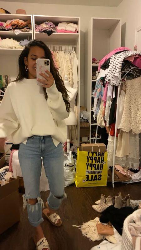 White sweater   #LTKsalealert #LTKunder50 #LTKunder100