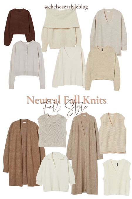 Shop neutral fall sweaters under $30. Perfect for transitioning into fall.  | fall outfit | outfit inspiration | affordable style | affordable oufits | affordable denim | jeans | denim dress | fall dress | fall wedding guest dress | trench coat | coat | jacket | neutral style | sweaters | knits | boots | Chelsea boots | button down | fall layers | hm | h&m |    #LTKbacktoschool #LTKstyletip #LTKunder50