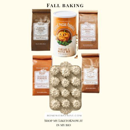 Fall baking mixes and pans from Williams Sonoma. Yum!  #LTKSeasonal #LTKfamily #LTKhome