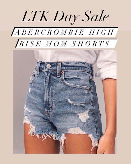 Abercrombie and Fitch high rise mom shorts 20% off   Abercrombie and Fitch  Spring style  Summer style  Vacation style  Jean shorts  Mom shorts      #LTKsalealert #LTKunder50 #liketkit @liketoknow.it http://liketk.it/3huSg #LTKDay