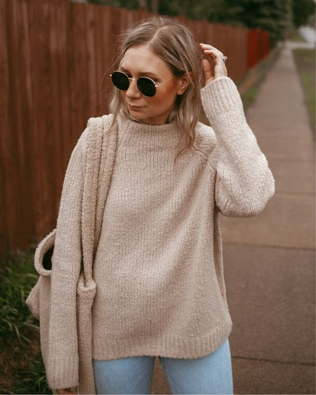 Nordstrom anniversary sale sweater finds - wearing 2 sizes up.   #LTKsalealert