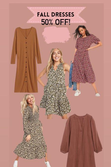 Fall dress 50% off   #LTKstyletip #LTKSeasonal #LTKsalealert