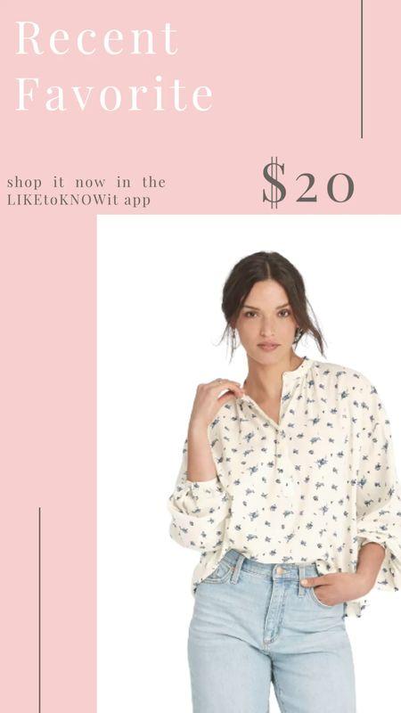 Target blouse top with cute floral print    #LTKunder50 #LTKstyletip #LTKsalealert