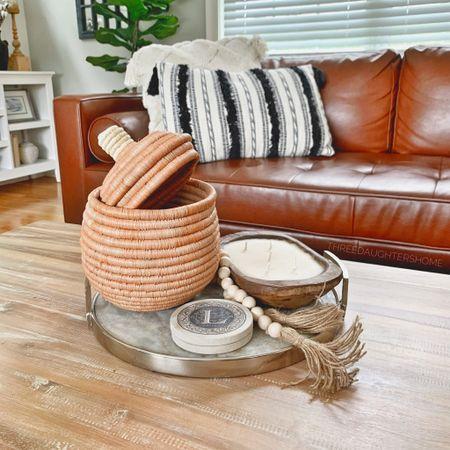 Pumpkin, raffia pumpkin, pumpkin basket, basket decor, centerpiece decor, fall decor, fall favorite, target  #LTKhome #LTKunder50 #LTKSeasonal