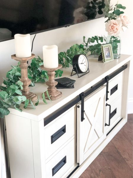 New TV calls for a new TV stand and decor! While I can't save this exact stand, I found one super similar for you!  #LTKhome #LTKfamily #StayHomeWithLTK