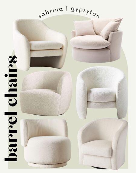 Swivel boucle chair for bedroom or living room home decor #gypsytanHOME   #LTKunder50 #LTKhome #LTKsalealert