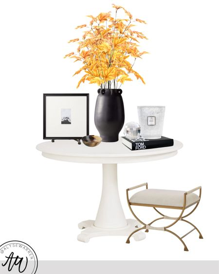 This giant Voluspa candle is 25% off at Bloomingdale's right now! It's the best time to buy!   Round entry table, entryway, table decor, ottoman, bench, gallery easel, square gallery frame, decorative bowl, coffee table books, Tom Ford book, crystal orb, black vase, fall stems, Alice Lane inspired, Amazon Home finds, bedroom, kitchen, living room   #LTKhome