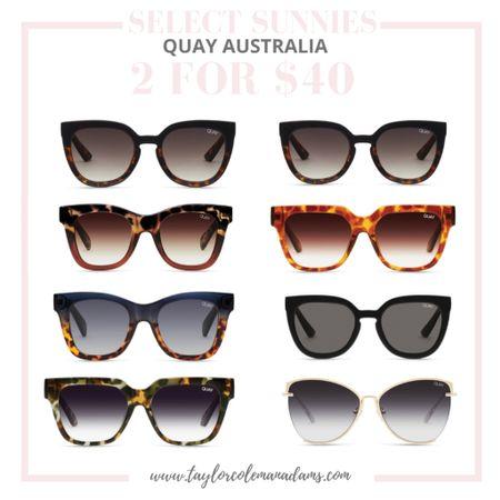 Sunglasses. Sunnies. Quay Australia. 2 for $40. http://liketk.it/3grS1 #liketkit @liketoknow.it #LTKunder50 #LTKsalealert #LTKunder100