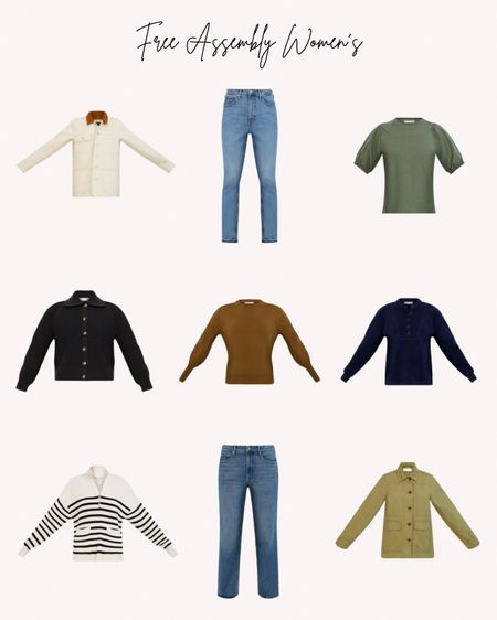 Women's clothing, free assembly, Walmart, fall, winter, sweaters, jackets, jeans, denim, shirts, tops  Follow me for more ideas and sales.   Double tap this post to save it for later    #LTKSeasonal #LTKstyletip #LTKunder50