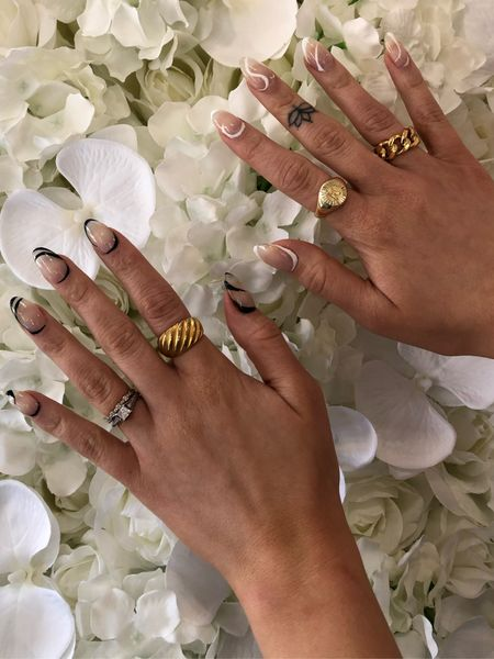 Gold rings  Initial ring  Gold jewelry  Initial    #LTKstyletip #LTKunder50 #LTKunder100