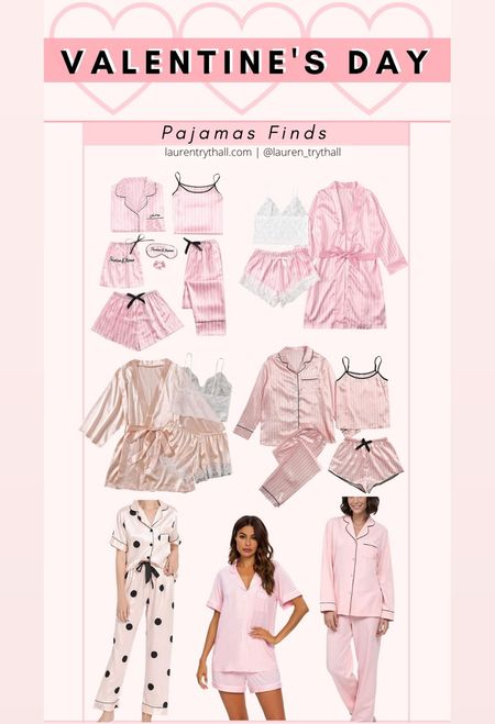 valentine's day pajama finds! super cute pajamas perfect for valentines day. this would be a great valentines day gift too!   #LTKSeasonal #LTKVDay #LTKstyletip