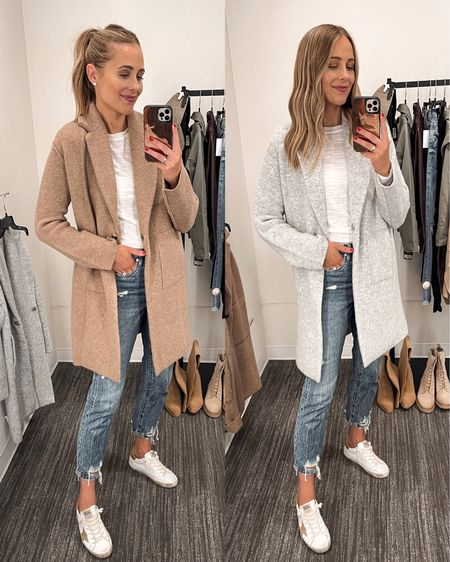 Love this cozy sweater coat for fall. Comes in camel grey and black! I'm wearing a small for a more fitted look but could easily size up for a relaxed fit #sweaters #falloutfit #cardigan   #LTKstyletip #LTKunder100 #LTKshoecrush