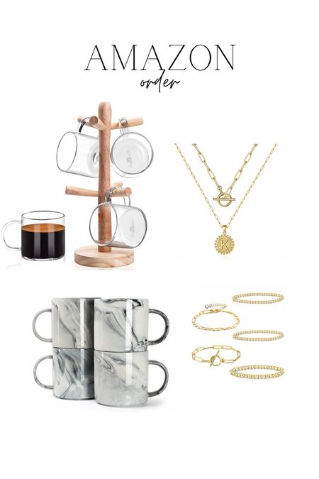 Latest amazon order! Coffee mugs for Fall & gold jewelry   #LTKstyletip #LTKunder50