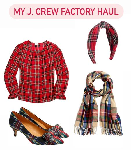 J. Crew factory. Tartan. Plaid. Holiday outfits   Follow my shop @ashleyjennany on the @shop.LTK app to shop this post and get my exclusive app-only content!  #liketkit #LTKunder50 #LTKsalealert #LTKHoliday @shop.ltk http://liketk.it/3qhhP