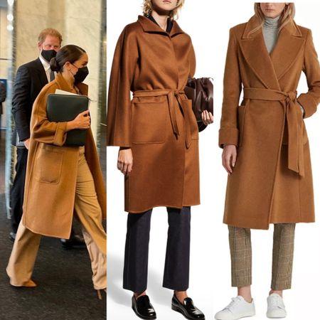 Dupe wrap belted camel coat save $2600 #lookforless #deal #bargain #coat  #LTKstyletip
