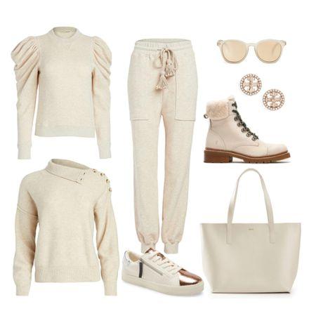 Sweatpants joggers, sweaters, sneakers, hiking boots, loungewear set casual look    #LTKstyletip #StayHomeWithLTK #LTKshoecrush