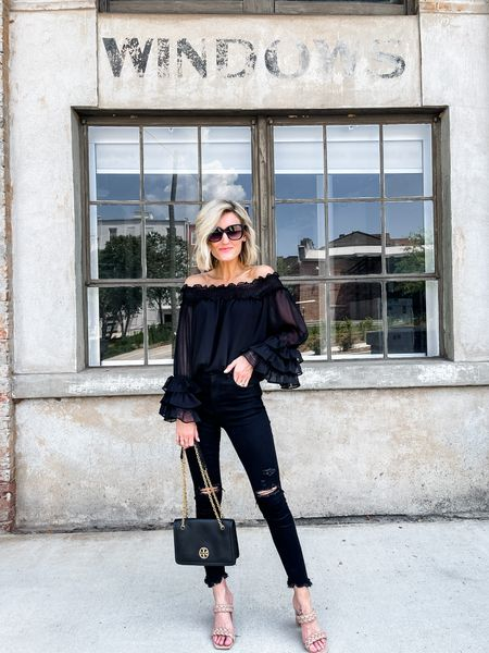 Love an all black look for. Date night outfit or girl night out look!   #LTKunder100 #LTKstyletip #LTKsalealert