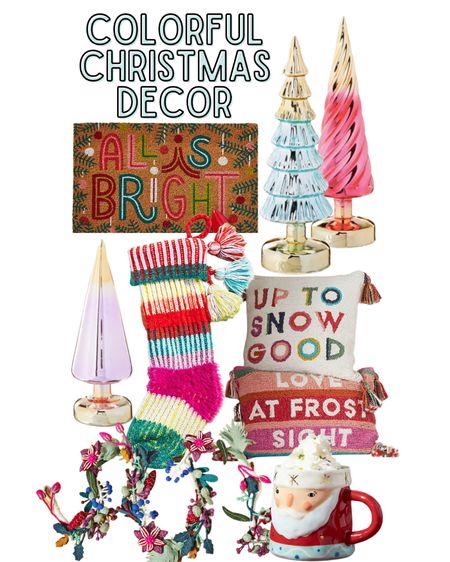 Bright colored Christmas decor, pink Christmas decor   #LTKGiftGuide #LTKsalealert #LTKHoliday