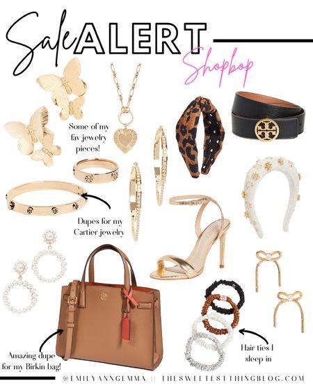 Shopbop, Shopbop Sale Picks, Emily Ann Gemma, Tory Burch, Gold Earrings, Headbands, Gold accessories, Slip hair bands, Sale Alert http://liketk.it/3pz6A        #LTKsalealert