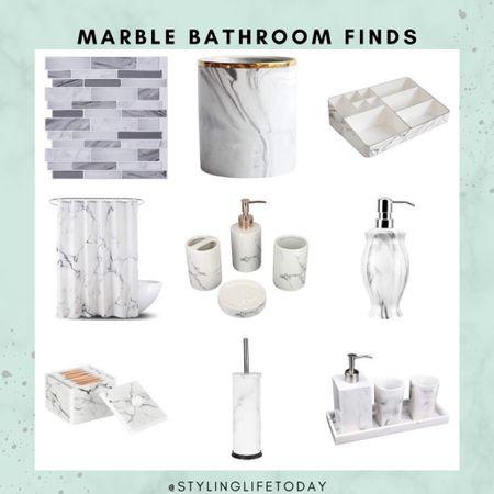 Marble bathroom finds. Amazon home. Amazon finds  #LTKhome #LTKunder50 #LTKeurope