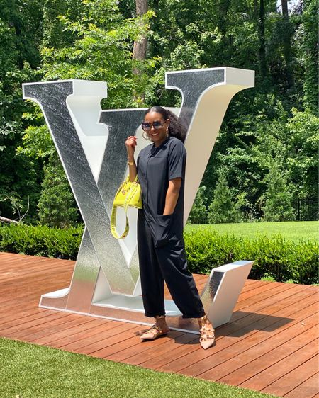 What I wore to visit the world of Louis Vuitton. This jumpsuit is everything! I still can't believe the price! @liketoknow.it http://liketk.it/3hmKO #liketkit #LTKstyletip