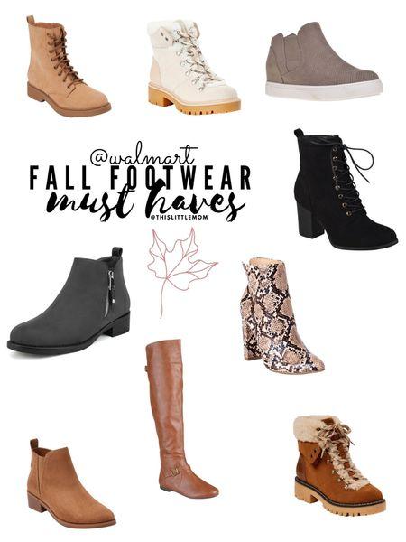 Fall Footwear #musthaves from Walmart! Affordable and adorable! #fallfashion #walmart   #LTKshoecrush #LTKSeasonal #LTKstyletip