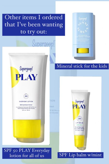 Supergoop friends & family sale going on now! 20 % off all SPF : restocked some of my faves plus just ordered a few things I've been wanting to try!  LInking my faves and what I just ordered  These would also make great gift ideas or stocking stuffers.      Supergoop , sunscreen , spf , skincare , glow screen , zinc screen , spf lip balm , #ltkfit #ltkgiftguide  #LTKunder50 #LTKbeauty #LTKsalealert