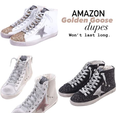 These amazon golden goose duped are usually deleted quickly but linking them now while I see them. I don't personally have them but I've linked them before and the people who bought them said they're great! 🤷🏼♀️ Linking the real ones too in case you want to compare    #LTKstyletip #LTKshoecrush #LTKunder100