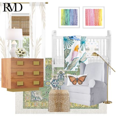 So many clients come to me thinking that a gender neutral nursery has to be completely neutral in color, with the exception of some pops of green and yellow. That is SO far from the truth! Have a little fun with it, and go all in! Research has actually proven that bright colors and contrast encourage babies to focus, in turn encouraging cognitive development 😎 .  http://liketk.it/3e9D9 #liketkit @liketoknow.it @liketoknow.it.home  .  You can instantly shop my looks by following me on the LIKEtoKNOW.it shopping app! Link in bio!