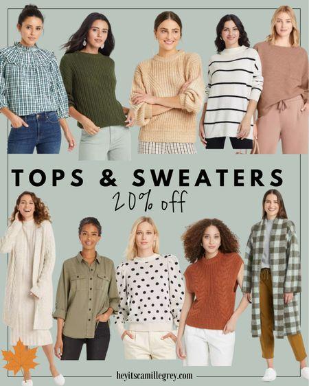 TARGET Tops and Sweaters 20% off Turtlenecks, sweater vests, cardigans, plaid, stripes, polka dots, button downs!    #LTKsalealert #LTKunder50 #LTKunder100