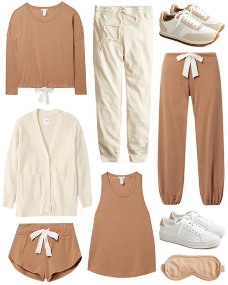 It's time to upgrade your loungewear! Love these comfy, neutral styles 🤍   #tssedited #thestylescribe #loungewear #eberjey #cardigan #sweatpants #pjs