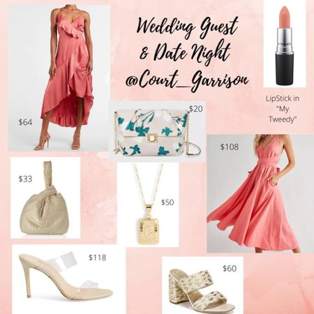 💗💗 The perfect spring look for a wedding guest or for a fabulous date night! I included my favorite floral purse, peach dresses, gold accessories, nude lipstick and an awesome nude shoe! Happy Shopping!  . . . #springdress #springoutfit #amazonfinds #weddingguest #weddingguestdress #maternity #datenight #springoutfit #momfashion #pinkdress #nudeslideons #peachdress #target #targetfinds  .   http://liketk.it/3c6gH #liketkit @liketoknow.it #LTKSpringSale #LTKsalealert  . .