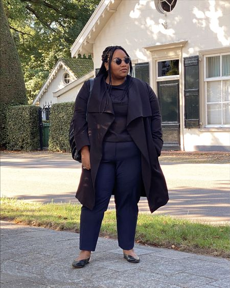 Plus-size Marine Trousers  These are so comfy and stylish. Perfect for office or casual if you style it with sneakers   #LTKstyletip #LTKunder50 #LTKcurves