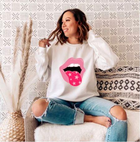 Pretty in pink sweatshirt   #LTKunder50 #LTKstyletip #LTKGiftGuide