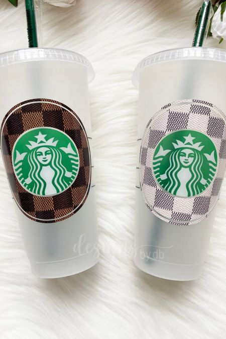 Love love love these designer inspired reusable Starbucks cups! And they're under $20!   #LTKhome #LTKstyletip #LTKfamily