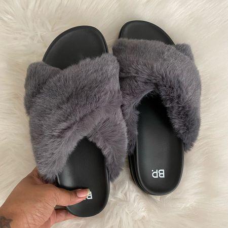 BP fur slides in stock at Nordstrom #nsale #shoes   #LTKunder100 #LTKsalealert #LTKstyletip