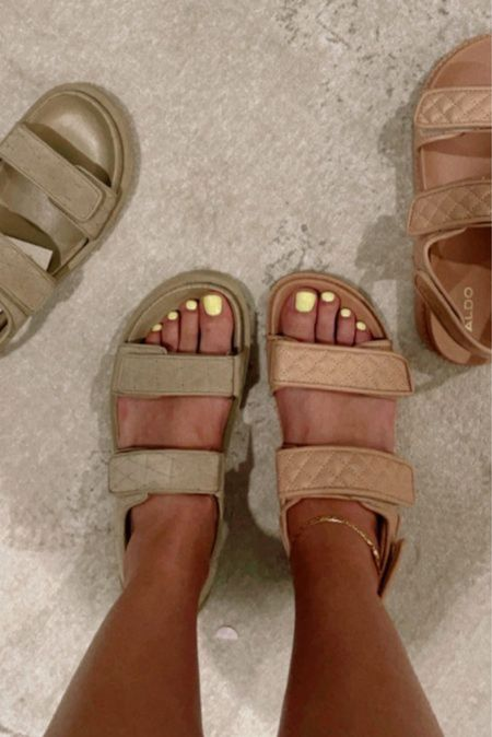 quilted padded sandals, linking a bunch that I like 🤍 #paddedsandals #quiltedsandals   #LTKshoecrush #LTKunder100