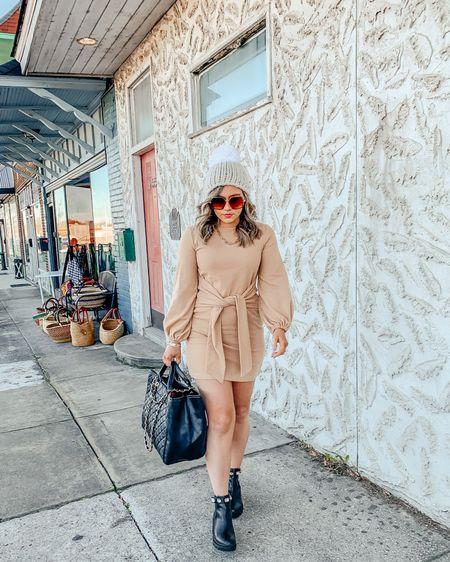 amazon fashion / amazon dress / amazon sweater dress / boots / booties / Gucci dupe / http://liketk.it/36YSw #liketkit @liketoknow.it #LTKshoecrush #LTKunder50 #LTKsalealert