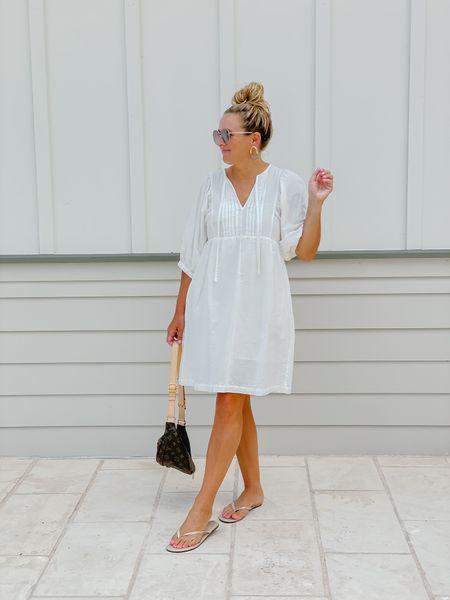 The perfect little white dress for summer is on sale!   #LTKsalealert #LTKunder50